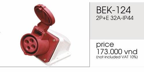 Giá ổ cắm nổi 4 chấu 32A không kín nước BEK-124