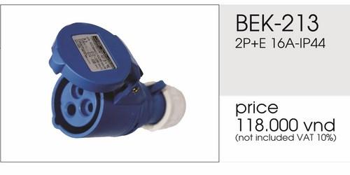 Giá phích nối 3 chấu 16A không kín nước BEK-213