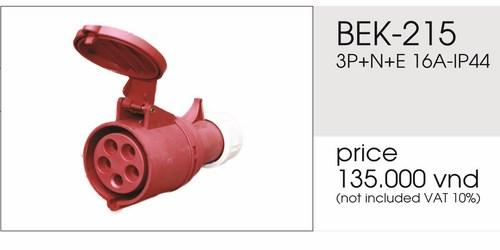 Giá phích nối 5 chấu 16A không kín nước BEK-215