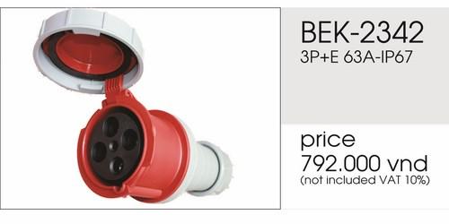 Giá phích nối 4 chấu 63A kín nước BEK-2342