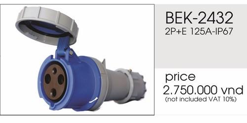 Giá phích nối 3 chấu 125A kín nước BEK-2432