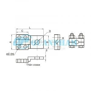 Đầu cosse đồng Bolted Type Copper Terminal 1