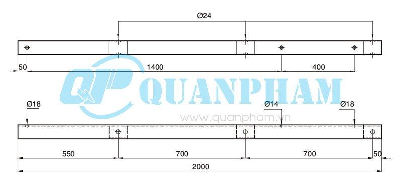 Hình 1: Đà A - Sắt L-75x75x8 - 2000 (Ảnh: quanpham)