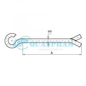 Bulông chân chẻ Hook Sealing Bolts 1
