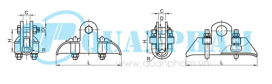Khóa đỡ dây Suspension Clamps for ACSR 3