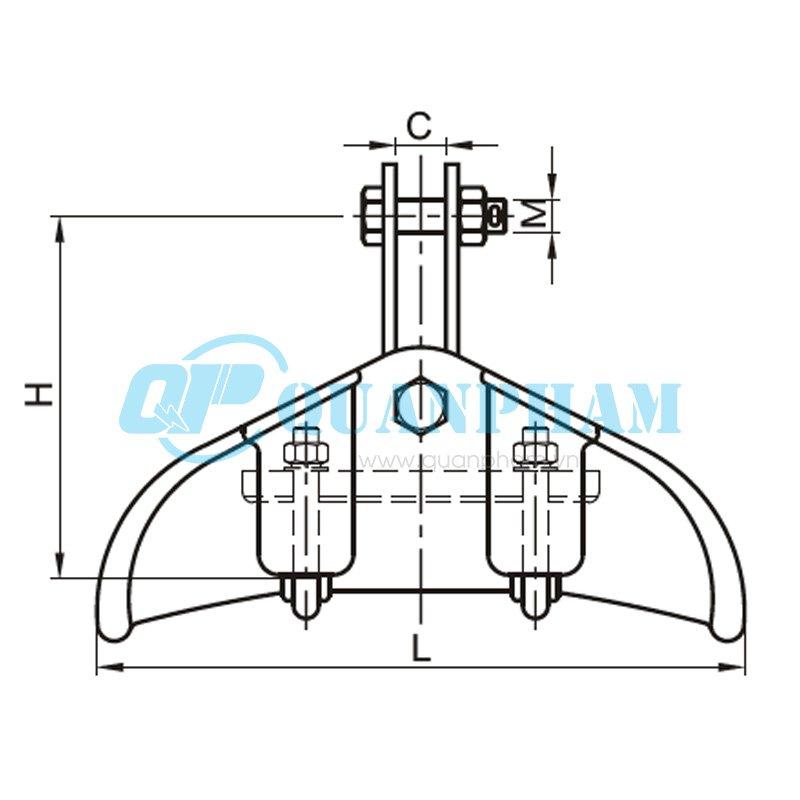 Khóa đỡ dây Suspension Clamps (type CF) 2