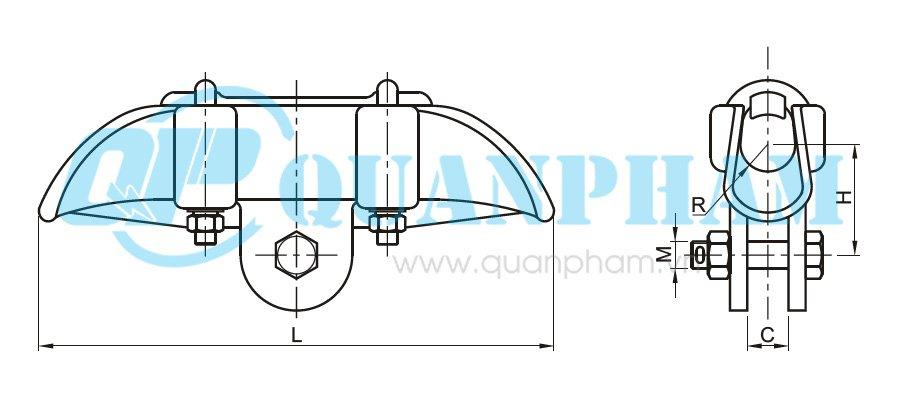 Hình 1: Khóa đỡ dây (CGF) (Ảnh: quanpham)