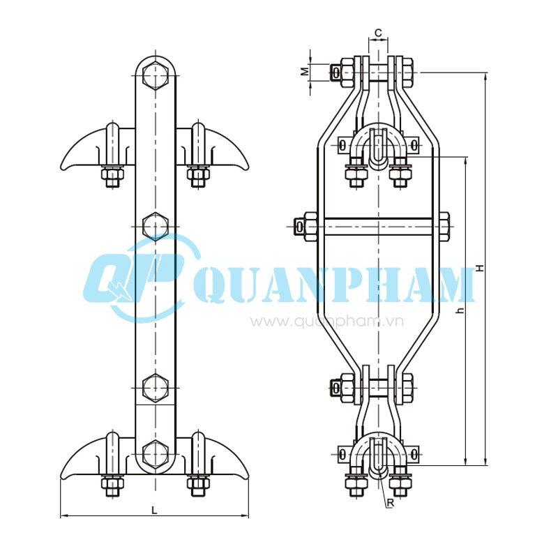Hình 1: Khóa đỡ dây (XCS) (Ảnh: quanpham)