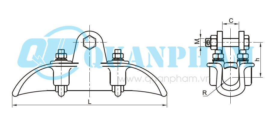 Hình 1: Khóa đỡ dây (XGF) (Ảnh: quanpham)