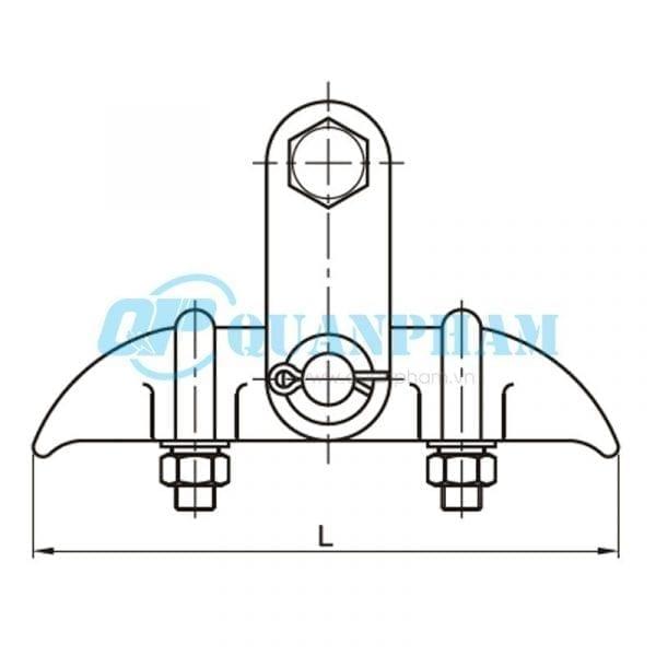 Khóa đỡ dây Suspension Clamps (type XGU) 1