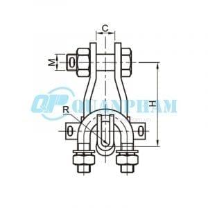 Khóa đỡ dây Suspension Clamps (type XGU) 2