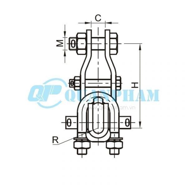 Khóa đỡ dây Suspension Clamps (type XGU - abrasion proof) 2