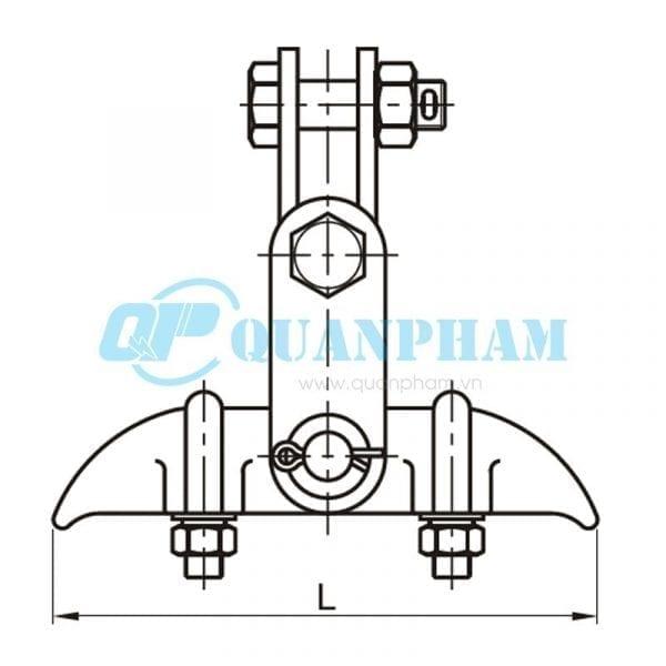 Khóa đỡ dây Suspension Clamps (type XGU - with clevis) 1