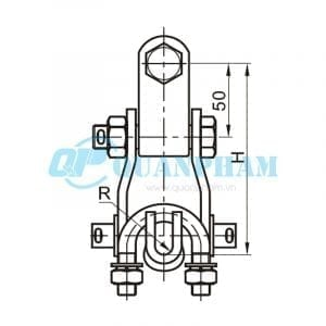 Khóa đỡ dây Suspension Clamps (type XGU – with clevis) 2