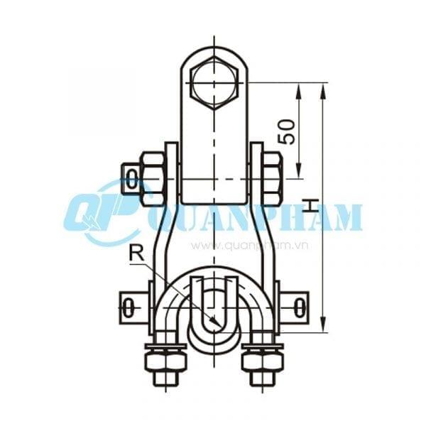 Khóa đỡ dây Suspension Clamps (type XGU - with clevis) 2