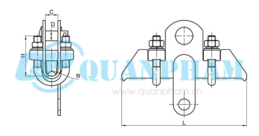 Khóa đỡ dây chống sét Suspension Clamps for Ground Wire (type DS - 7) 3