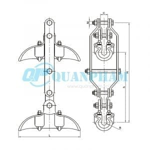 Khóa đỡ dây nhảy Suspension Clamps (type CSH – twin conductors) 1