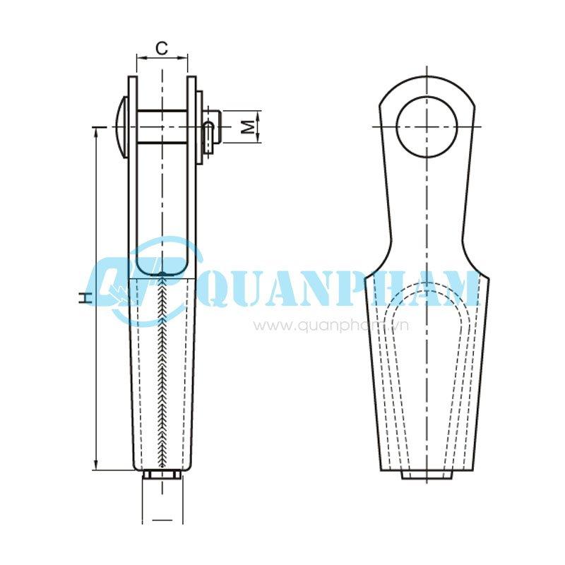 Hình 1: Khóa néo nêm cho dây chống sét (NN) (Ảnh: quanpham)