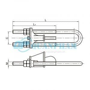 Hình 1: Khóa néo nêm cho dây chống sét (NUT) (Ảnh: quanpham)