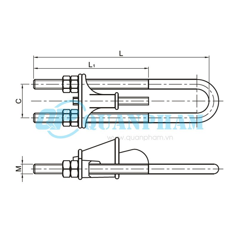 wedge clamps for ground wire  type nut