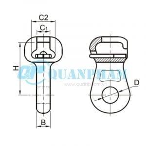 Mắc nối đơn Socket Eyes (type W) 1