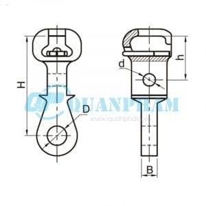Mắc nối đơn Socket Eyes (type W) 2