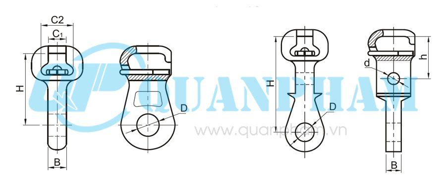 Hình 1: Mắc nối đơn Socket Eyes (type W) (Ảnh: quanpham)