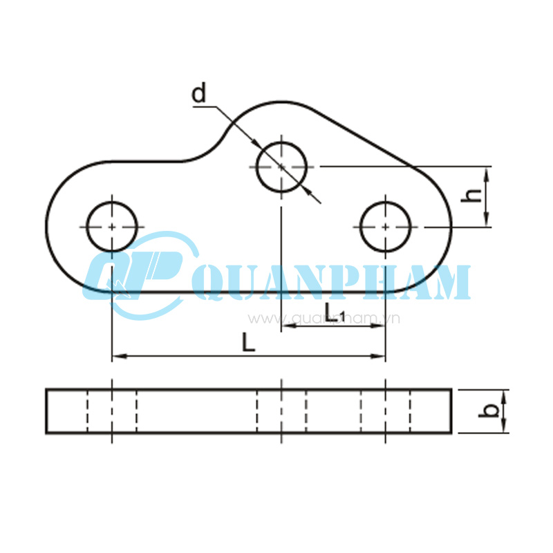 Mắc nối trung gian điều chỉnh Adjuster Plates (type QY) 1
