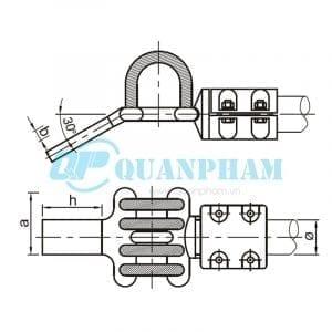 Bản vẽ kỹ thuật nối thanh cái (MGS - 30°) (Ảnh: quanpham)