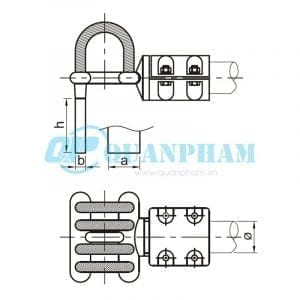 Nối thanh cái Flexible Clamps for Tubular Bus-bar (type MGS - 90°) 1