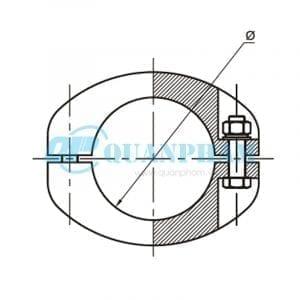 Nối thanh cái (ngoài) Tubular Bus-bar Joint (outside - type MJ) 1