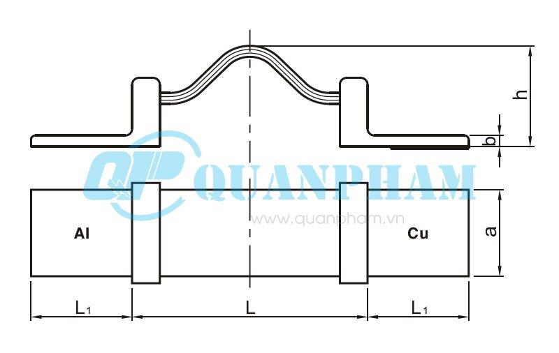Hình 1: Bản vẽ kỹ thuật thanh nối dẫn (nhôm - đồng) - MSS1 (Ảnh: quanpham)