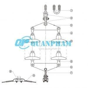Chuỗi đỡ đôi cho dây ACSR AAC 120KN
