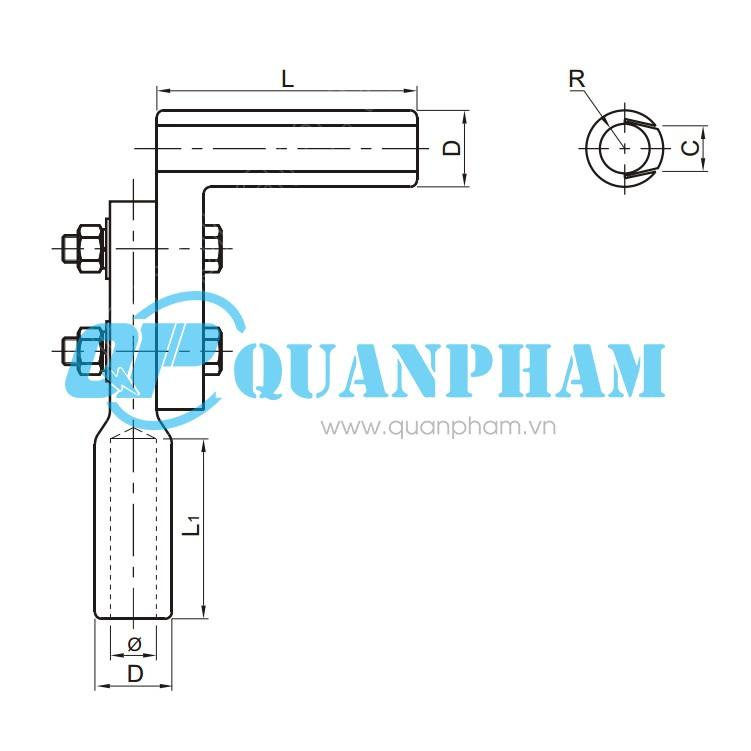 Bản vẽ kỹ thuật kẹp rẽ nhánh dây dẫn Type TY