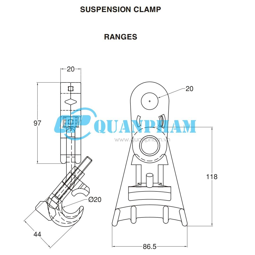 suspension clamp low voltage
