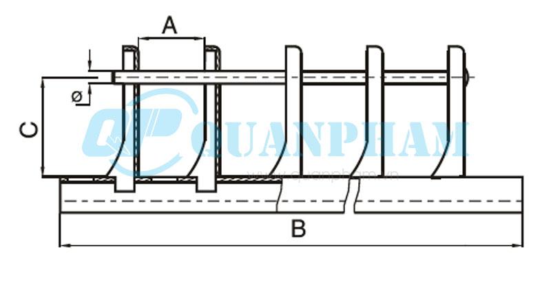 Hình 2: Khung đỡ sứ (Ảnh: quanpham)