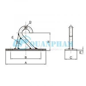 móc đơn 2 Single Suspension Clamp Bracket