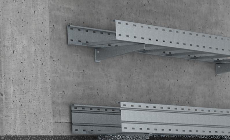 Giá đỡ thang cáp gắn tường