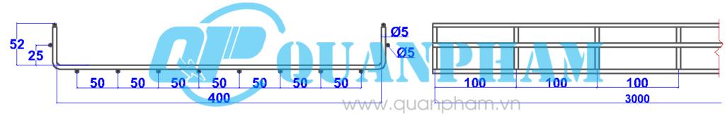 Máng cáp lưới 50x400x5mm